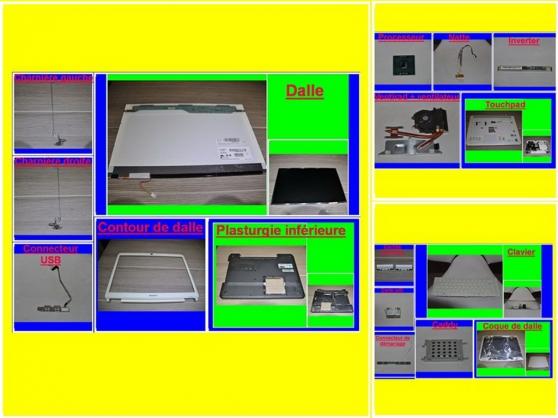Pièces Sony Vaio 7151M de 15,4 pouces