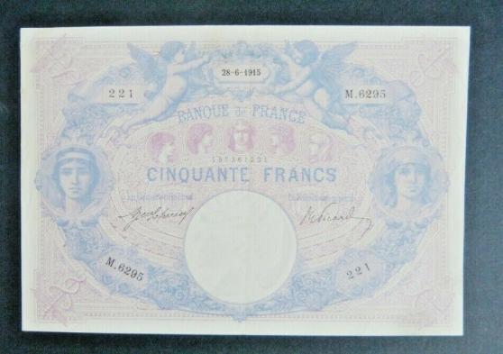 Annonce occasion, vente ou achat 'rare billet5 f ble rose1915 spl c 850€'