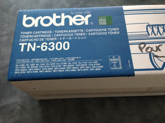 Annonce occasion, vente ou achat 'Cartouche toner Brother TN 6300'
