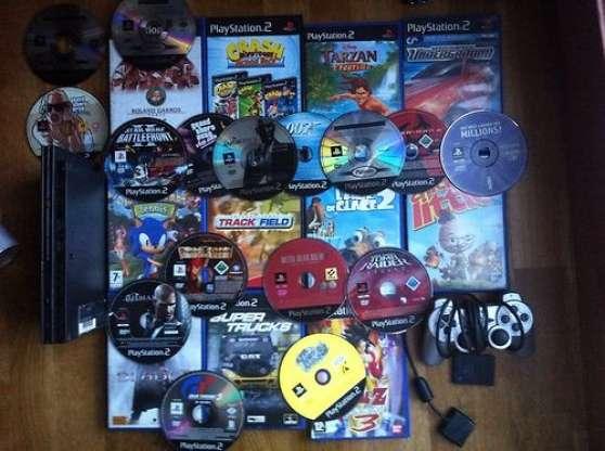 Console ps2 Slim, 29 jeux, manette, CM