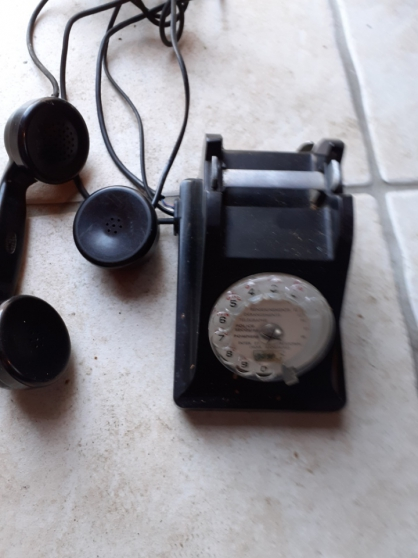 téléphone bakelite noir - Photo 2