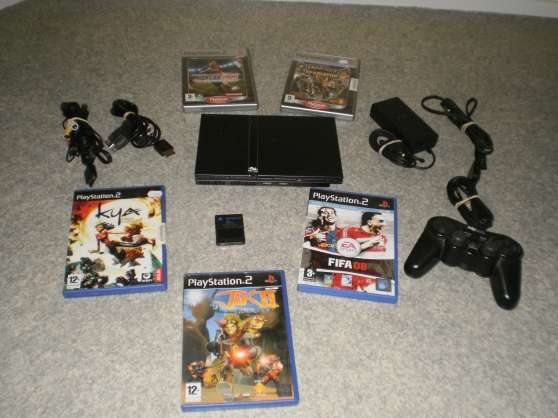 Console Sony PlayStation 2 Slim + jeux
