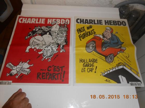 Annonce occasion, vente ou achat '5 magazines charlie hebdo'
