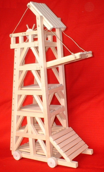 maquettes médiévales en bois