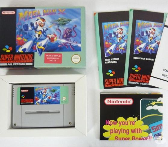 Jeu Super Nintendo Mega man x.