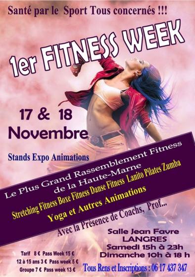 Fitness Week 17 et 18 novembre à Langres