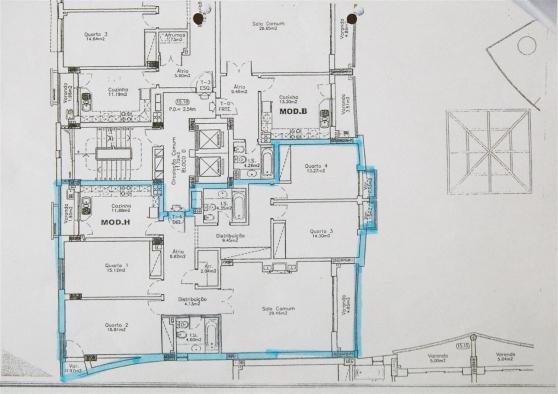 Appartement 4 chambres Faro Sé