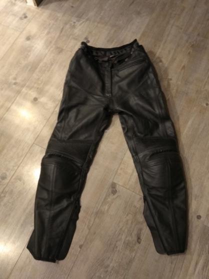 Pantalon cuir moto femme rev it