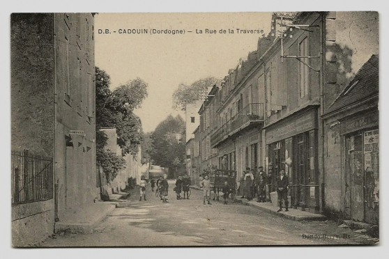 CADOUIN (24) - La Rue de la Traverse