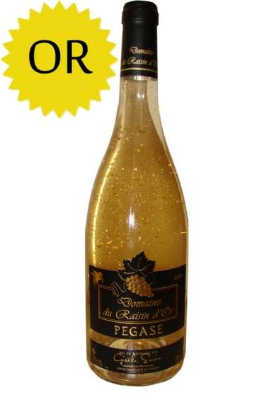 Vin de Luxe à paillettes d'Or PEGASE