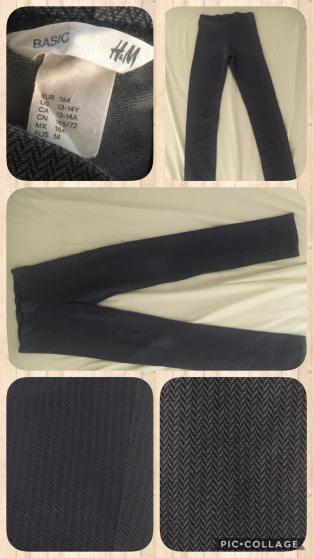 Pantalon fille gris noire 164 cm /13-14a