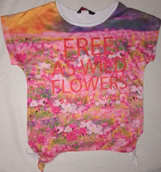 T-shirt motifs fleurs fille 8ans noeud
