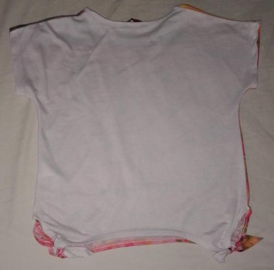T-shirt motifs fleurs fille 8ans noeud - Photo 4