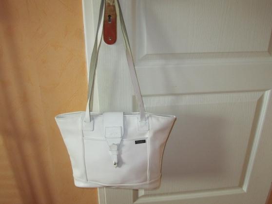 sac porté épaule blanc tout cuir