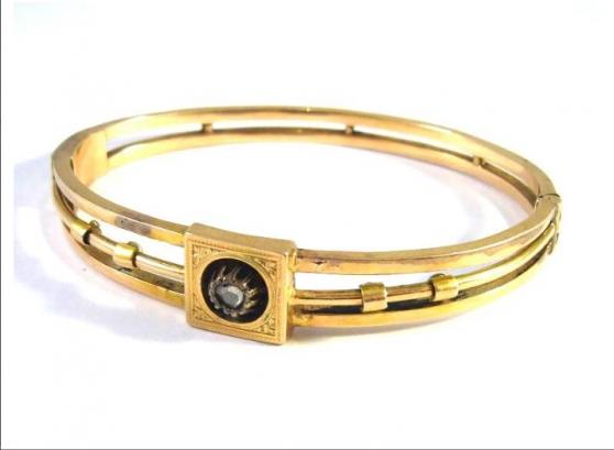 Antique 14 kt Biedermeier gold bracelet