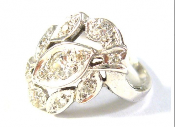 Annonce occasion, vente ou achat 'Antique ring with diamonds 0.62 kt'