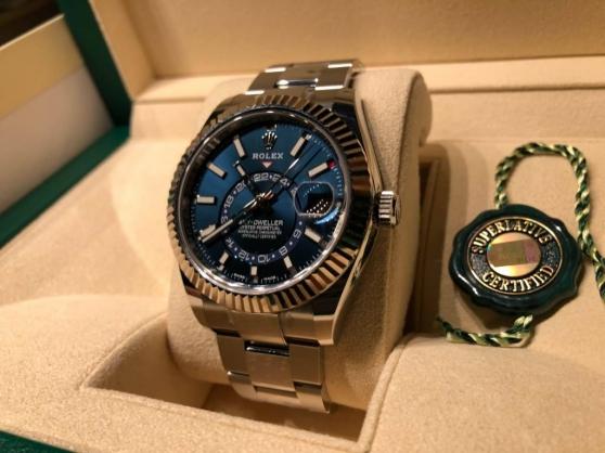 Rolex Sky-dweller bleue