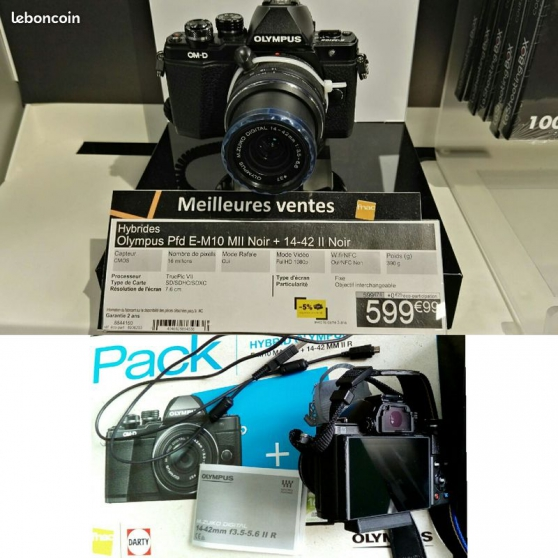 Annonce occasion, vente ou achat 'Appareil photo Olympus omd em10 mark 2'