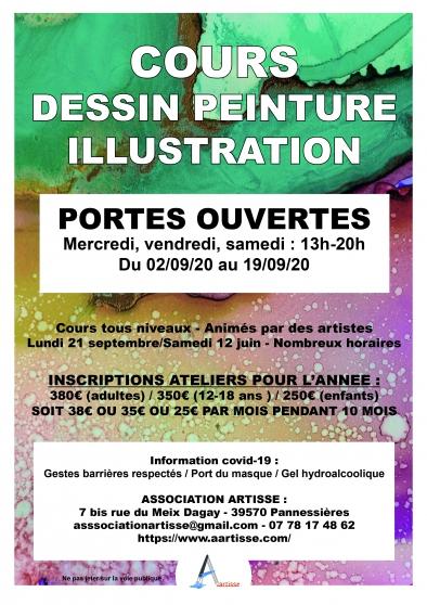 Annonce occasion, vente ou achat 'Cours dessin, peinture, illustration'