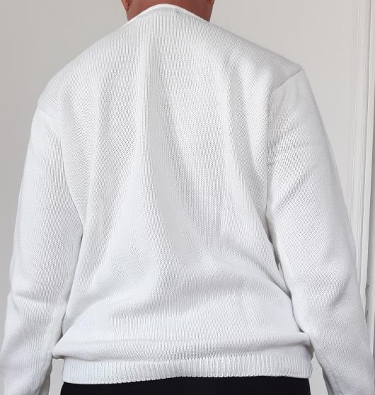 Pull coton blanc