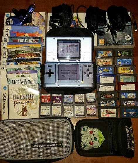 DS + 10 jeux DS + 16 jeux GBA + 4 charge