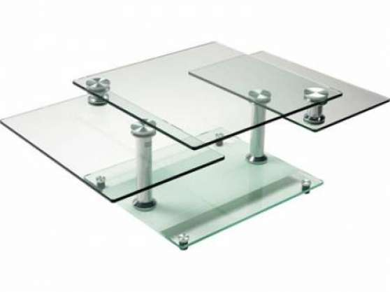 Table basse en verre modulable for Table cuisine modulable