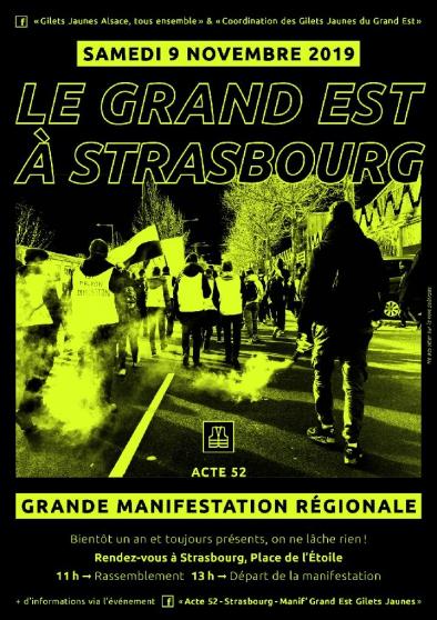 Annonce occasion, vente ou achat 'GiletsJaunes Acte 52 GrandEst Strasbourg'