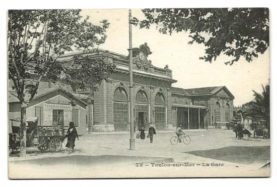 CPA - TOULON -sur-Mer (83) - La Gare