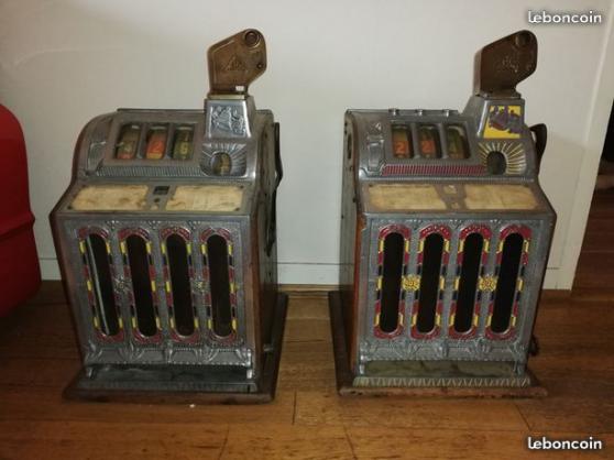 Annonce occasion, vente ou achat 'lot de 2 ancienne machine a sous mills'