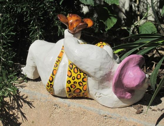 """Sculpture céramique """"Panther Girl"""""""
