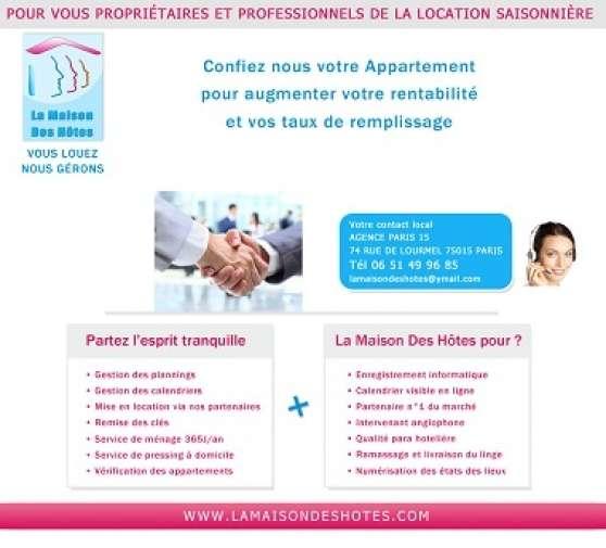 services location touristique sur paris
