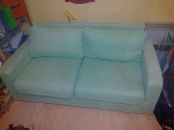 Canapé deux places déhoussable