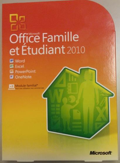 Microsoft Office Famille Etudiant 2010