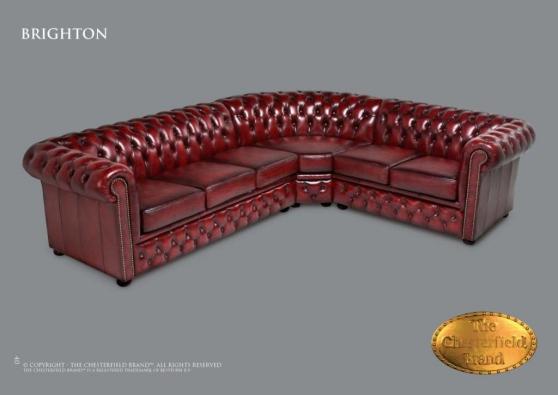 Canapé d'angle Chesterfield