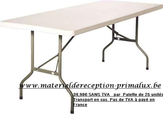 Table pliante banquet en poly thyl ne neuville en - Table pliante de marche ...