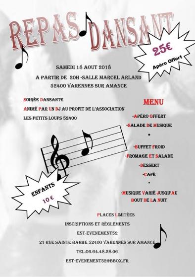 Annonce occasion, vente ou achat 'repas dansant'