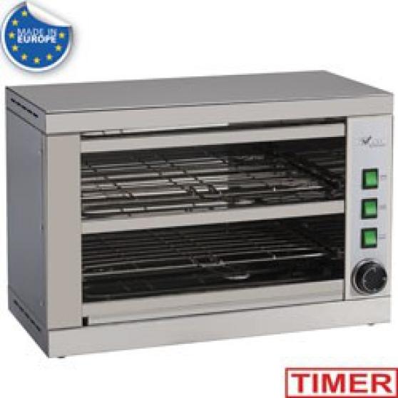 Toaster-salamandre 2 étages, avec minute