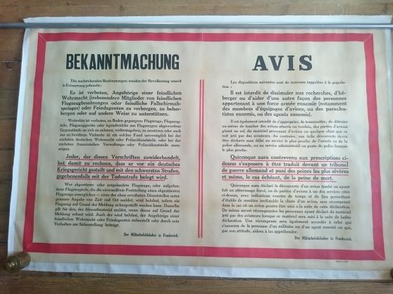 Avis officiel Allemand WW2