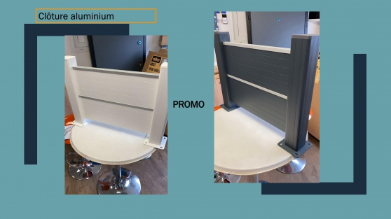 Clôture en aluminium disponible