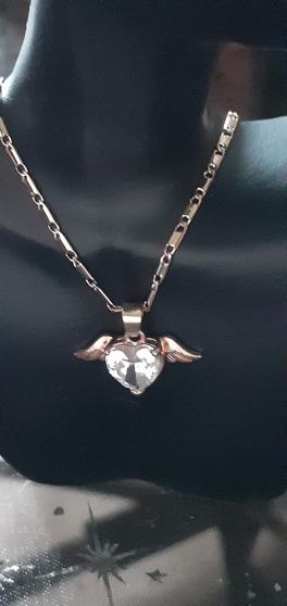 Annonce occasion, vente ou achat 'Joli pendentif Cœur strass et ailes d\'An'