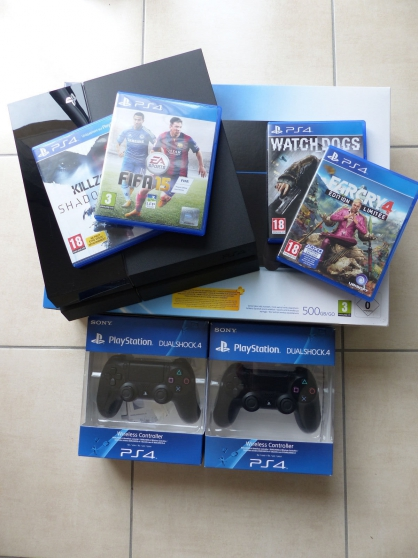 Sony PlayStation PS4 500 Go + 2 manettes