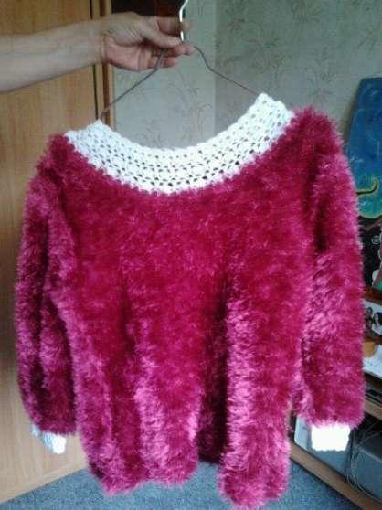 Pull en laine fait à la main neuf