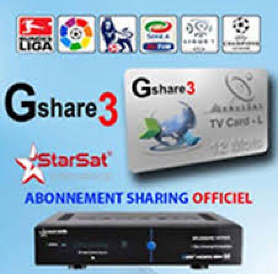 starsat abonnement serveur gshare 3