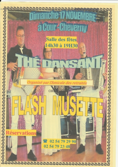 Annonce occasion, vente ou achat 'The Dansant à Cour-Cheverny'