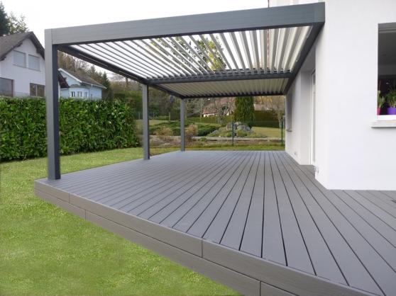 Aménagement Terrasse, clôture, abri jard