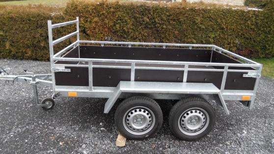 remorque  double   essieu  500/750 kg - Annonce gratuite marche.fr