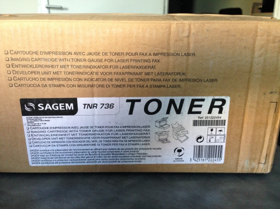 Annonce occasion, vente ou achat 'Encre - Toner Sagem - TNR 736'
