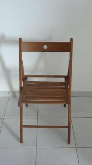 Chaise pliante bois ikea comme neuve