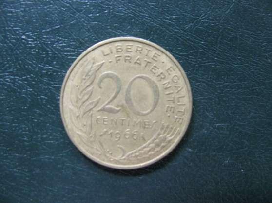 pièce de 20 centimes Français 1966