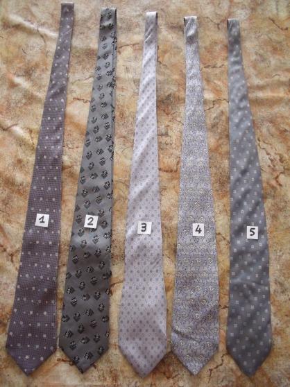 cravates, longueur 145 cm - Annonce gratuite marche.fr